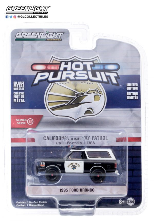 42920 e hot pursuit 36 1995 ford bronco california highway patrol front b2b - 1995 Ford Bronco -California Highway Patrol - Hot Pursuit Series 35