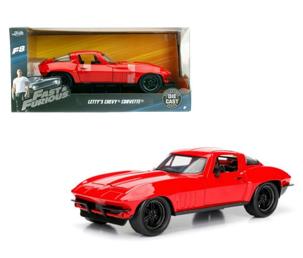 98306 - LETTY'S CHEVY CORVETTE FROM FAST & FURIOUS - RED - 1:32 SCALE