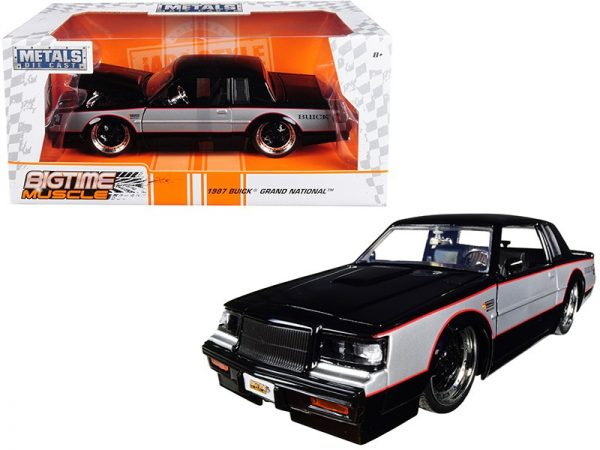 30528 - 1987 BUICK GRAND NATIONAL - BIGTIME MUSCLE BY JADA (BLACK/SILVER)