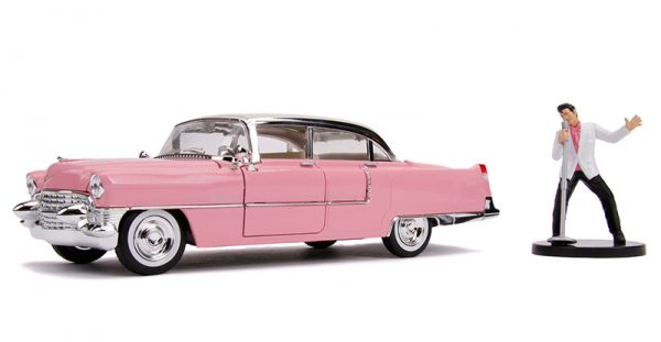 31007 1 - Elvis Presley's Pink 1955 Cadillac Fleetwood with Elvis Figure