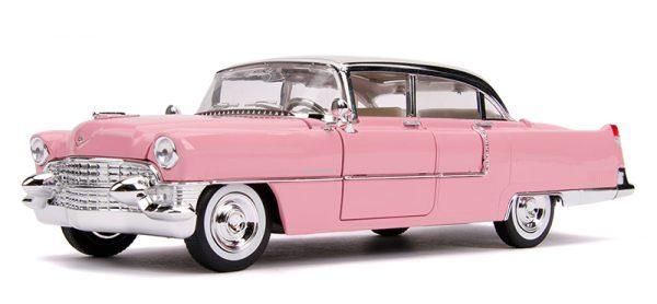 31007a - Elvis Presley's Pink 1955 Cadillac Fleetwood with Elvis Figure