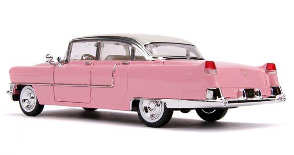 31007b - Elvis Presley's Pink 1955 Cadillac Fleetwood with Elvis Figure