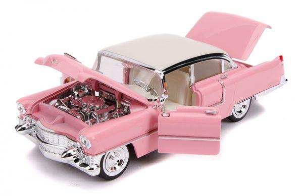 31007c 1 - Elvis Presley's Pink 1955 Cadillac Fleetwood with Elvis Figure