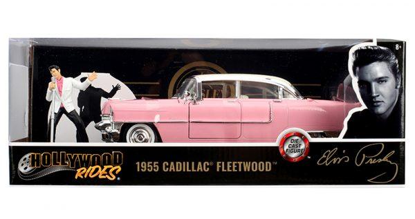 31007f - Elvis Presley's Pink 1955 Cadillac Fleetwood with Elvis Figure