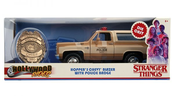 31111g - Hawkins Police Dept - Hopper's Chevy Blazer with Police Badge - Stranger Things (Netflix Series, 2016-Current)