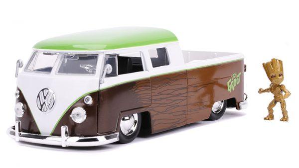 31202 - 1963 Volkswagen Bus Pickup and Groot Figure