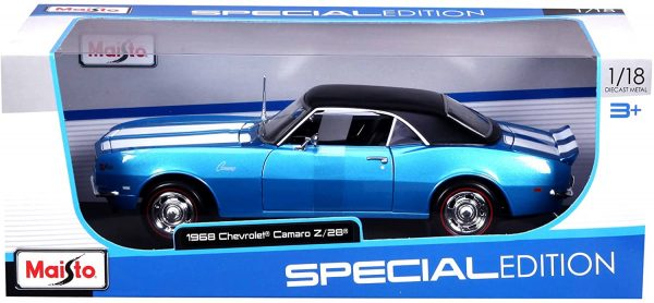31685bl1 - 1968 CHEVY CAMARO Z28 COUPE -BLUE
