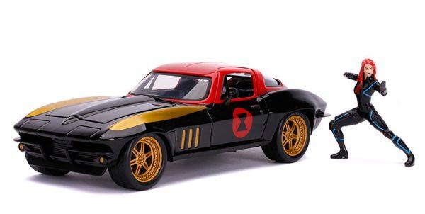 31749 1 - 1963 Chevrolet Corvette with Black Widow Figure