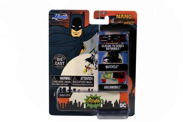 31988 nano hwr classic tv series batman 4 scaled - NANO HOLLYWOOD RIDES - 1966 CLASSIC TV SERIES BATMAN -set of 3 - minis approx 4 1/2 cm long