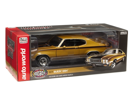 amm1198 3 - American Muscle 1971 Buick GSX Hardtop (MCACN) 1:18 Scale Diecast