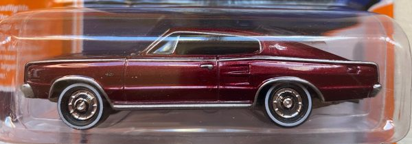 jlcg021a2a - 1967 DODGE CHARGER - DARK RED POLY - CLASSIC GOLD, JOHNNY LIGHTNING