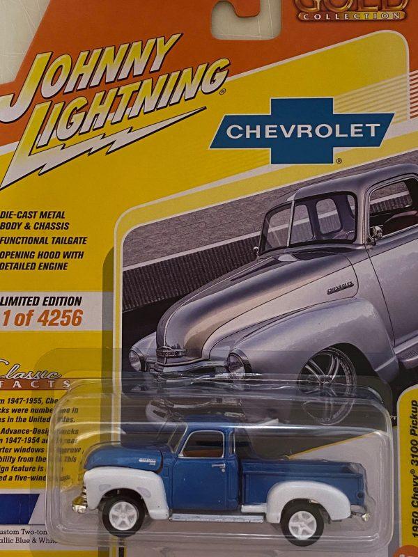 jlcg022b6 1 - 1950 Chevrolet Truck in Custom Metallic Blue & White (2-Tone)