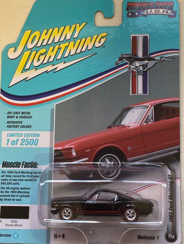 jlmc022a2 - 1965 FORD MUSTANG GT FASTBACK - RAVEN BLACK -JOHNNY LIGHTNING MUSCLE CARS USA