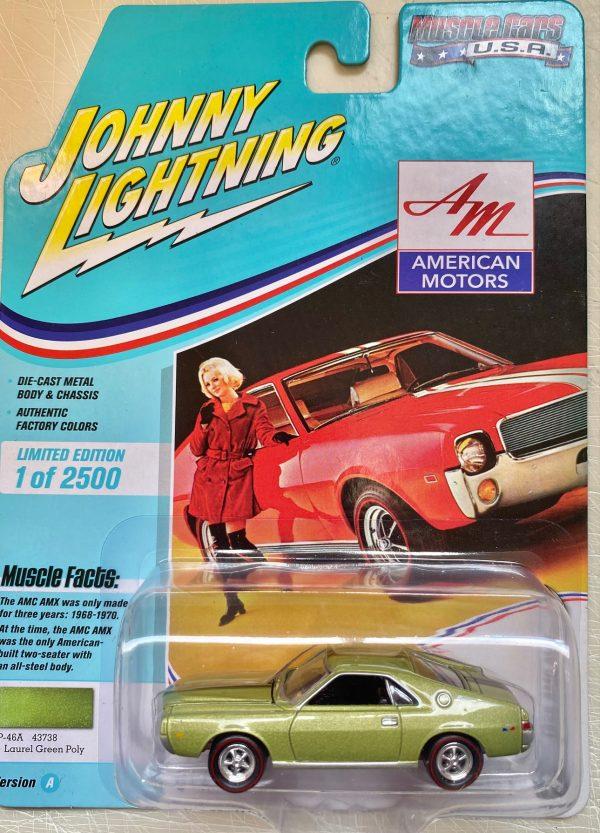 jlmc022a3 - 1968 AMC AMX - LAUREL GREEN POLY - JOHNNY LIGHTNING MUSCLE CARS USA