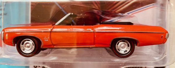 jlmc022a4a - 1969 CHEVY IMPALA CONVERTIBLE - HUGGER ORANGE -JOHNNY LIGHTNING MUSCLE CARS USA