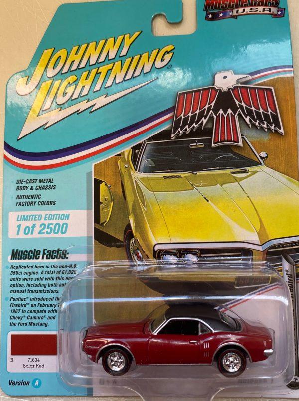 jlmc022a5a - 1969 PONTIAC FIREBIRD - SOLAR RED -JOHNNY LIGHTNING MUSCLE CARS USA