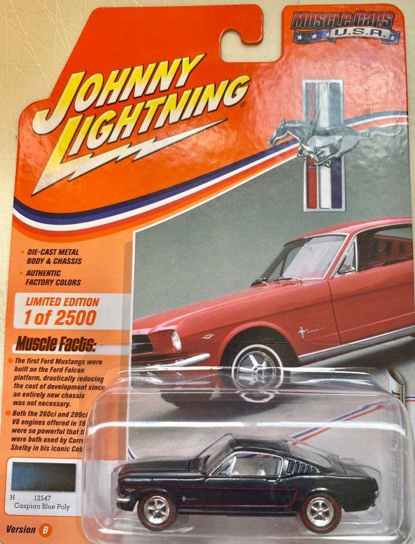 jlmc022b2 - 1965 FORD MUSTANG GT FASTBACK - CASPIAN BLUE POLY
