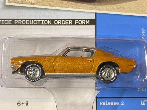 jlmc023a5a - 1970 1/2 COPO Chevrolet Camaro RS/Z28 in Camaro Gold Poly with Twin Black Stripes