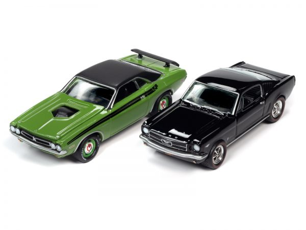 jlpk010 ponypower group - 1971 DODGE CHALLENGER AND 1965 FORD MUSTANG -Pony Power 2020 Release 2 (2-Pack) 1:64 Scale Diecast