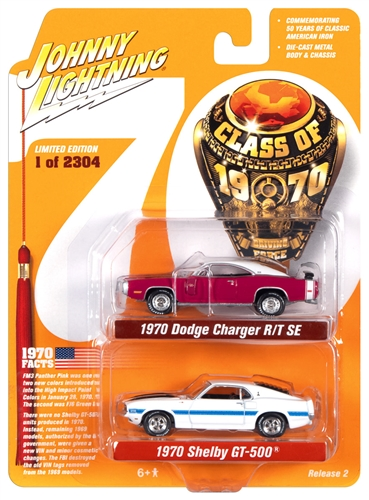 jlpk010class70 2 - 1970 DODGE CHARGER AND 1970 SHELBY GT500-Class of 1970 (2-Pack)