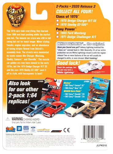 jlpk010class70 6 - 1970 DODGE CHARGER AND 1970 SHELBY GT500-Class of 1970 (2-Pack)