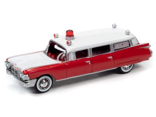 jlsp098 59cadillacambulance red - 1959 Cadillac Ambulance (Red/White)