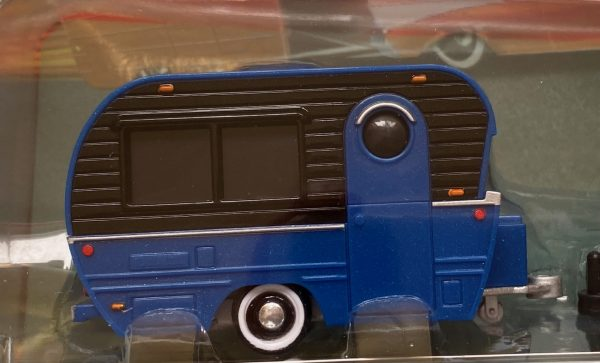 15368a2 - 1987 CHEVROLET 1500 PICK UP TRUCK WITH CLASSIC CRAFT TRAILER - BLUE/BLACK