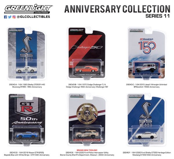 28040 1 64 anniversay collection 11 pkggroup b2b - 2016 Nissan GT-R (R35) - Bayside Blue with White Stripe - GT-R 50th Anniversary---Anniversary Collection Series 11