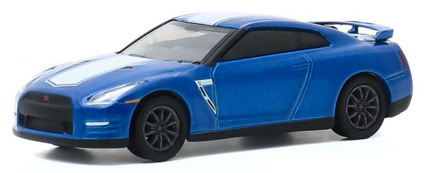 28040 d - 2016 Nissan GT-R (R35) - Bayside Blue with White Stripe - GT-R 50th Anniversary---Anniversary Collection Series 11