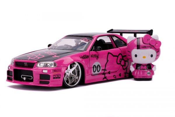 31613 - 2002 Nissan Skyline GT-R (BNR34)(Pink)-Hollywood Rides - Hello Kitty