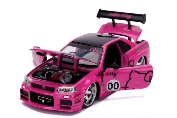 31613a - 2002 Nissan Skyline GT-R (BNR34)(Pink)-Hollywood Rides - Hello Kitty