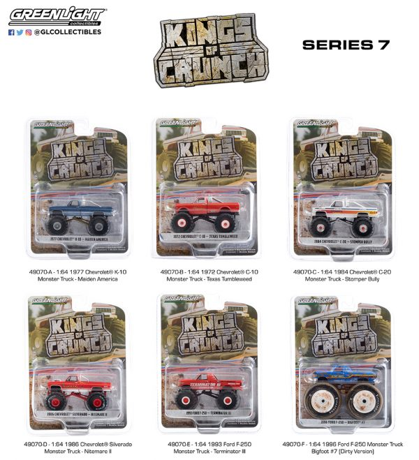 49070 1 64 kings of crunch 7 group pkg b2b - Nitemare II - 1986 Chevrolet Silverado Monster Truck