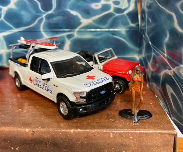 58053a - Florida Summer Bash - Multi-Car Diorama (1:64 SCALE)