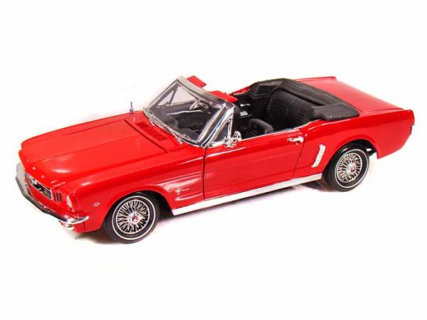 73145red - 1964 1/2 FORD MUSTANG CONVERTIBLE - RED