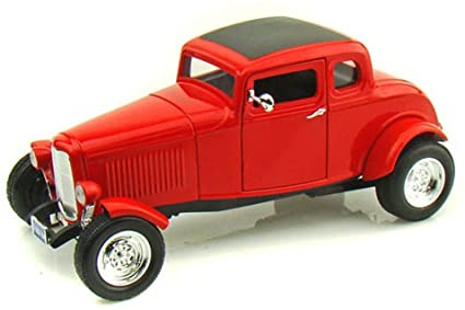 73171r - 1932 FORD 5 WINDOW COUPE IN RED