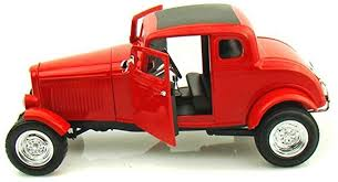 73171rc - 1932 FORD 5 WINDOW COUPE IN RED