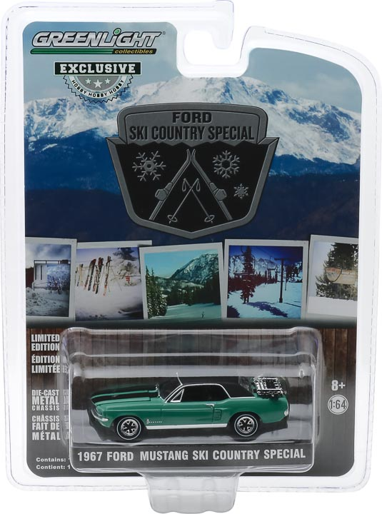 """30113 1 64 1967 ford mustang coupe ski country special pkg frontb2b - 1967 Ford Mustang Coupe """"Ski Country Special"""" - Loveland Green (Hobby Exclusive)"""