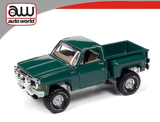 awsp057b - 1980 Chevrolet Custom Deluxe Pick Up 10 Stepside - Green