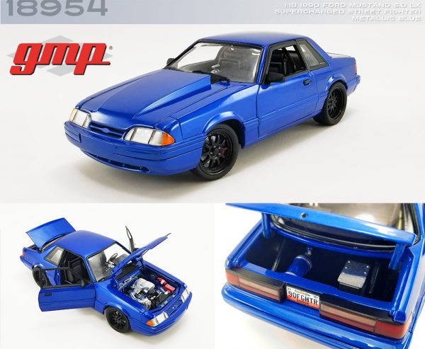 18954 1990 ford mustang 5 0 lx metallic blue deco b2b - GMP 1990 Ford Mustang 5.0 LX - Supercharged Street Fighter - Metallic Blue