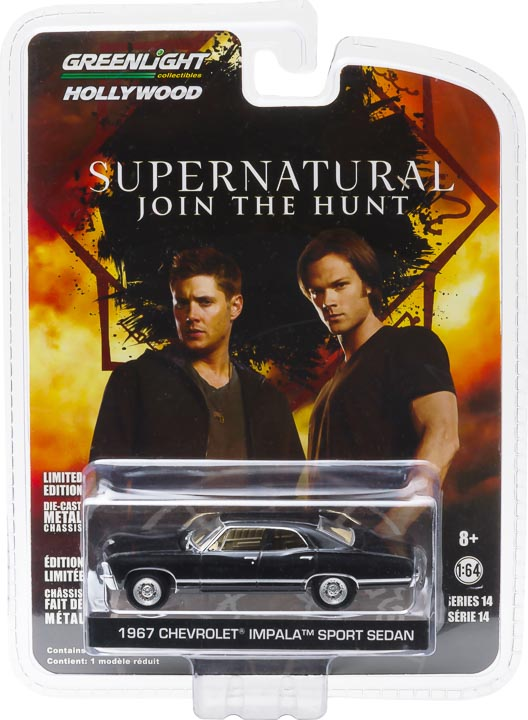 44692 1 64 hollywood 1967 chevrolet impala sedan supernatural tv series packaging b2b - 1967 Chevrolet Impala Sedan - Supernatural (2005-Current TV Series)