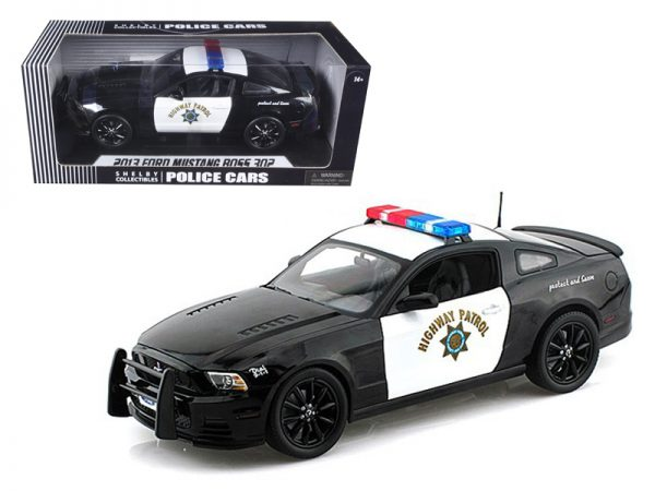 sc460a - 1966 Ford Mustang Boss 302 Highway Patrol Black Police Car