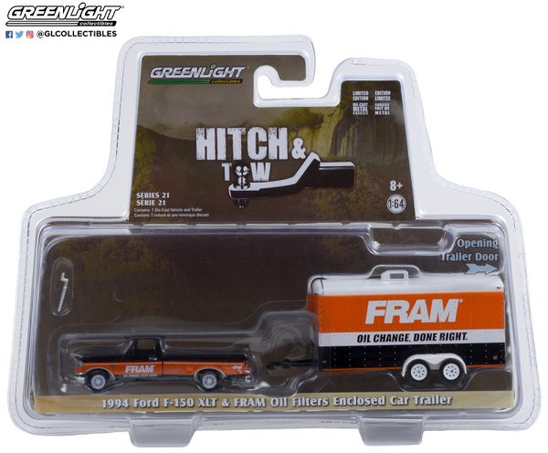 32210 b 1994 ford f 150 xlt w fram oil enclosed car hauler pkg b2b - 1994 Ford F-150 XLT with FRAM Oil Filters Enclosed Car Hauler - Hitch & Tow Series 21