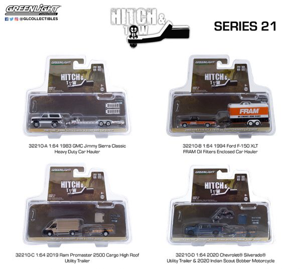 32210 hitch and tow 21 group pkg b2b - 2020 Chevrolet Silverado and Utility Trailer with 2020 Indian Scout Bobber Motorcycle - Hitch & Tow Series 21