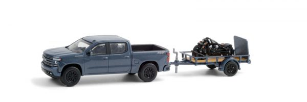 32210d - 2020 Chevrolet Silverado and Utility Trailer with 2020 Indian Scout Bobber Motorcycle - Hitch & Tow Series 21