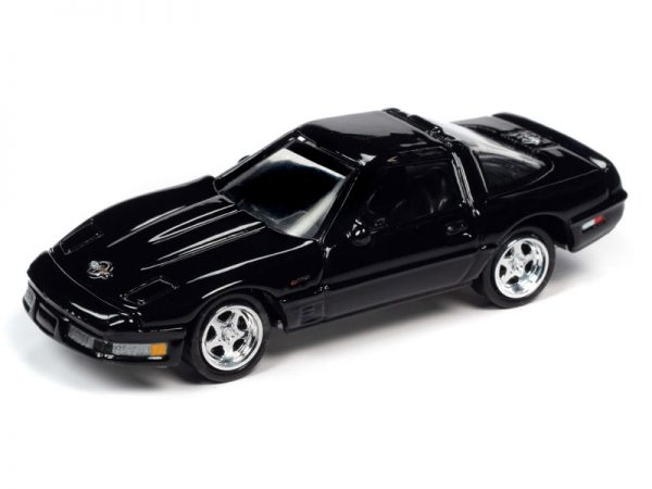jlct004 1 - 1995 Chevrolet Corvette ZR-1 in Black WITH Collectible Metal Storage Tin