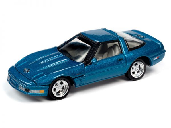 jlct004b1 - 1995 Chevrolet Corvette ZR-1 in Bright Aqua Poly WITH Collectible Metal Storage Tin