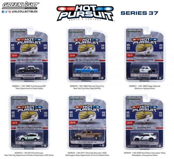 42950 1 64 hot pursuit 37 group pkg b2b - 1982 Plymouth Gran Fury - New York City Police Dept (NYPD)