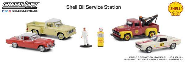 58055 1 64 multi car diorama shell oil service center group b2b - Shell Oil Service Center - Multi-Car Dioramas