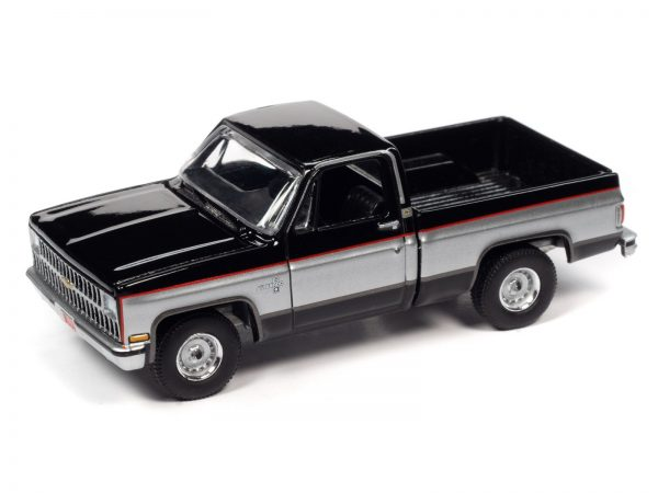 awsp062b 1 - 1981 CHEVROLET SILVERADO 10 (GLOSS BLACK WITH SILVER ON MIDDLE SIDES