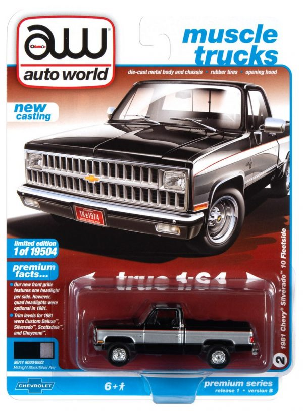 awsp062b - 1981 CHEVROLET SILVERADO 10 (GLOSS BLACK WITH SILVER ON MIDDLE SIDES